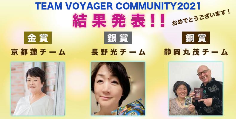 TEAM VOYAGER COMMUNITY2021結果発表